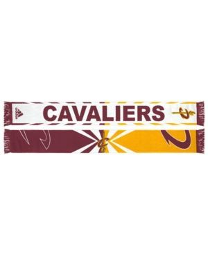 adidas Cleveland Cavaliers Jacquard Wordmark Scarf - Red