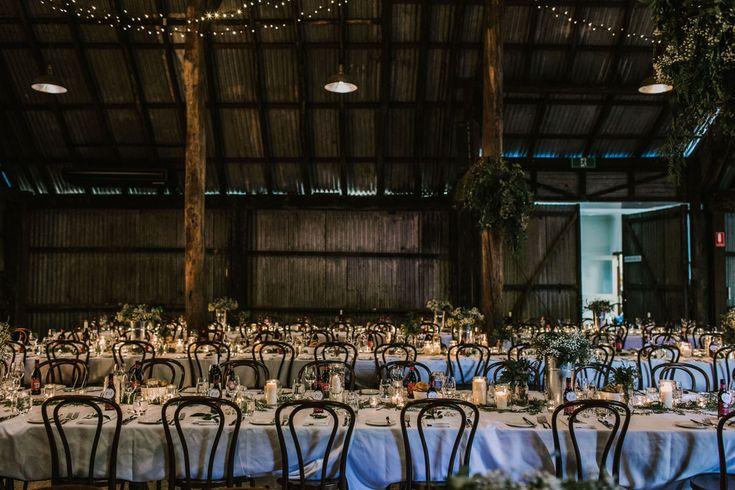 Brown Brothers Milawa Wedding Valley Blooms Wedding table setting Barn wedding