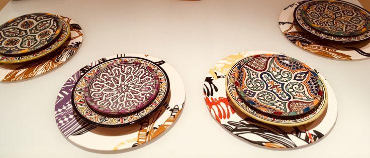 Missoni placemat and Moroccan multicoloured plates #tablesetting #missoni #etnochic
