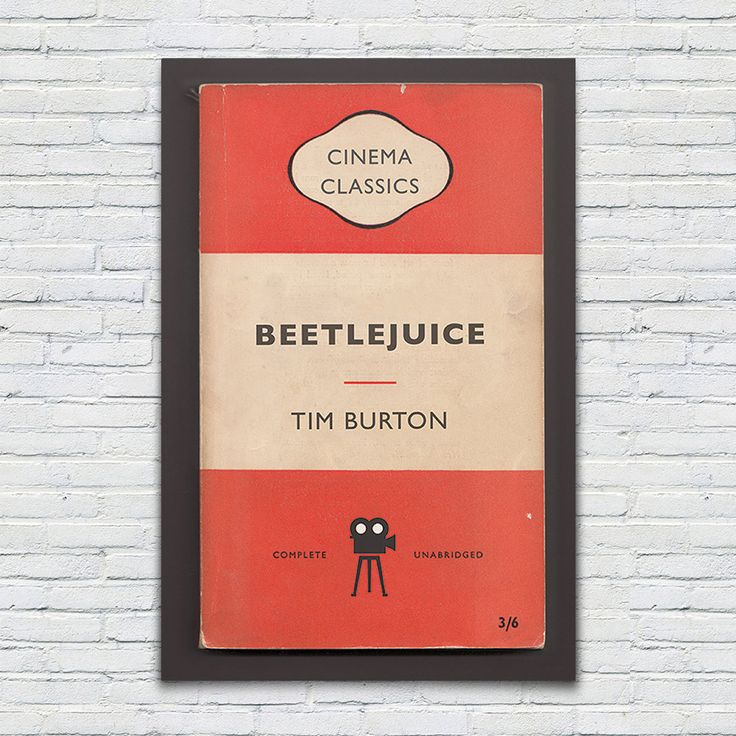 BEETLEJUICE Movie Poster TIM BURTON Poster by EncoreDesignStudios