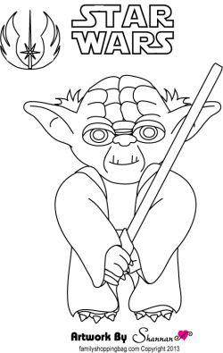 Yoda Coloring Pages Birthday Party Star Wars Crafts