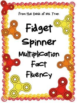 Fidget spinners are totally in! So why not incorporate them into your classroom in fun and useful ways? Here's an activity that will help student increase multiplication fact fluency using the fidget spinners as a timer. Spin, solve, and count the total number