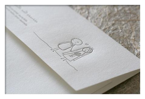 letterpress little couple