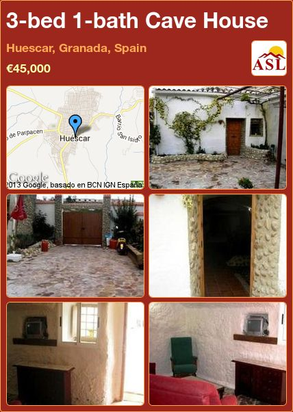 3-bed 1-bath Cave House in Huescar, Granada, Spain ►€45,000 #PropertyForSaleInSpain