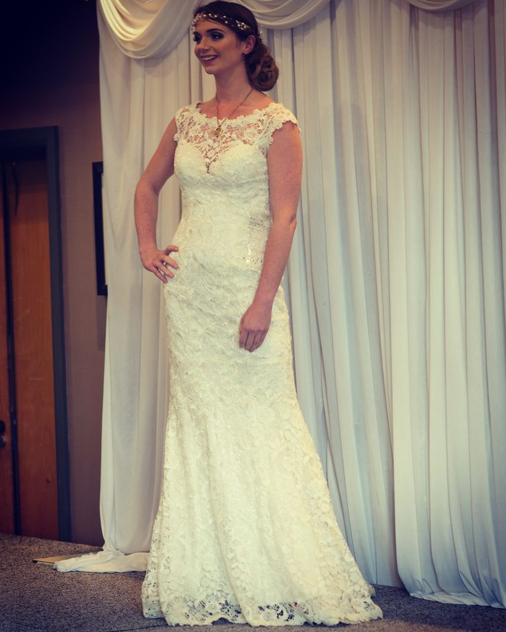 Gorgeous Georgia wearing a beautiful dress from Elegance Bridal 🕊Hair by Claire Kendrick and Make Up by DW Make Up 🌾 on the catwalk of our Autumn Wedding Fayre at the Holiday Inn Ellesmere Port/Cheshire Oaks #weddinginspiration #WeddingIdeas #bride #groom #catwalk #weddinghair #weddingmakeup #clairekendrickmobilehairdressing #dwmakeup #elegancebridal #holidayinn #cheshirewedding #redeventuk #weddingfayre #weddingfair  For more information visit our website:  www.redeventweddingfayres.com