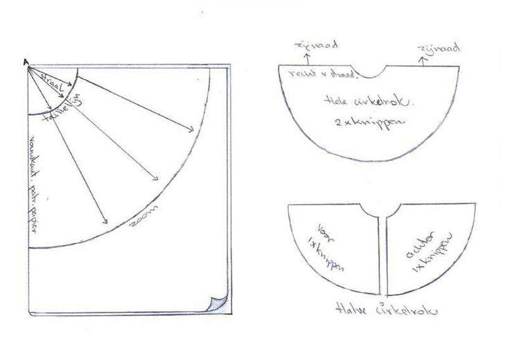 Teken zelf een patroon voor een hele of halve cirkelrok | Mode maken doe je zo