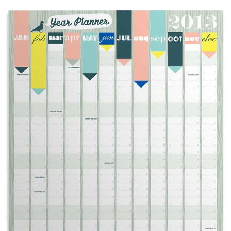 Calendar Poster Size : We could have a paper on the wall by month to list big