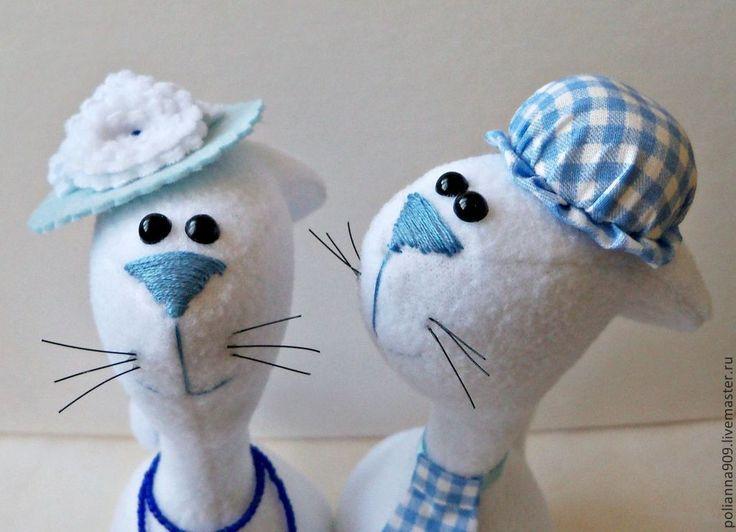 Купить Мадам и месье Блу - голубой, кот и кошечка, на годовщину свадьбы, на свадьбу, на новоселье
