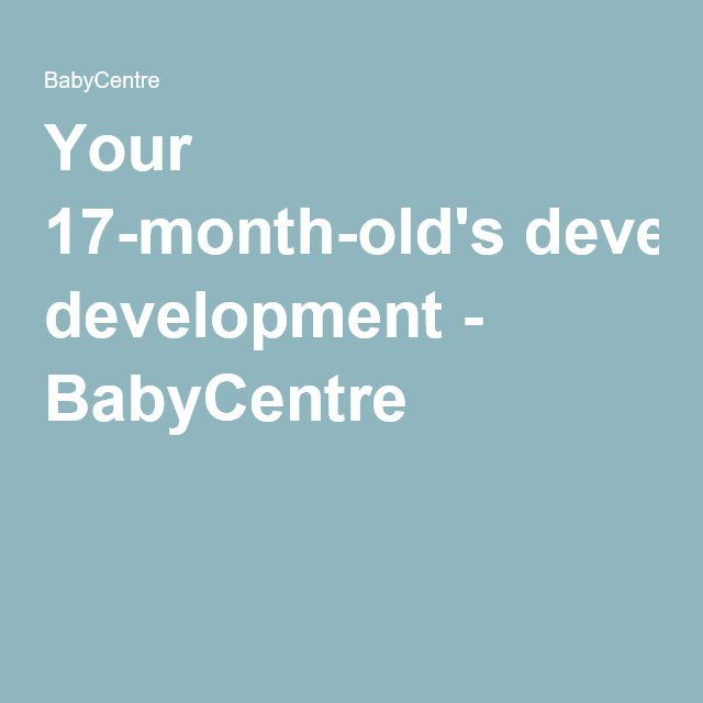 Your 17-month-old's development - BabyCentre