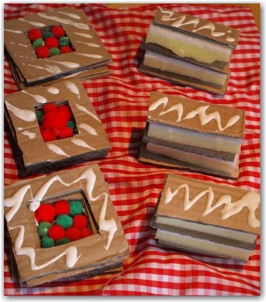 Cardboard Patisseries - Elegant play food made from cardboard for your play kitchen or role play area.