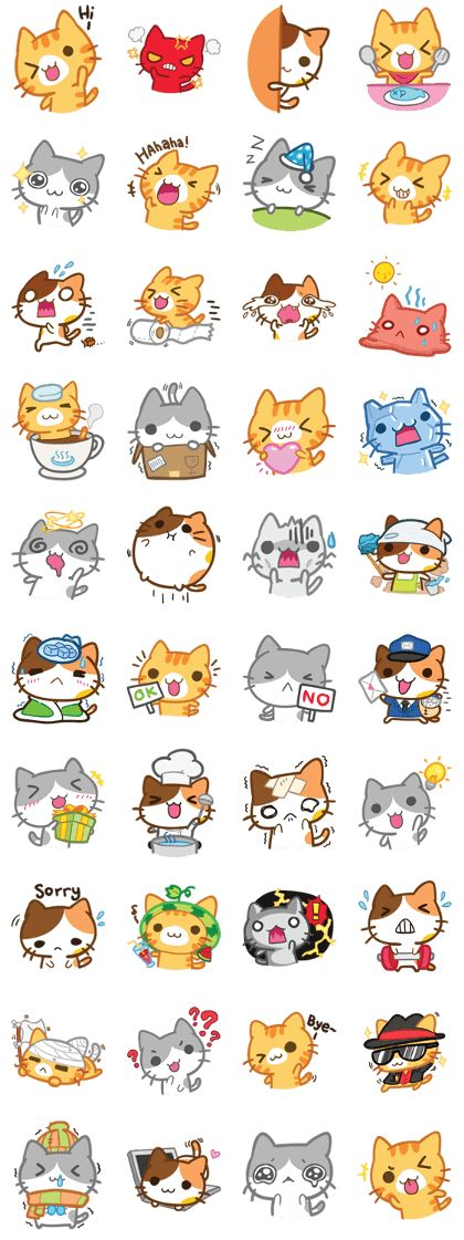 What does the cat say ... Meow - LINE Stickers des créateurs
