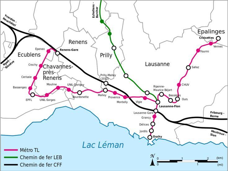 Die U-Bahn von Lausanne befährt die Stadt Lausanne in der Schweiz und ist im Besitz der Transportgesellschaft TL. Die U-Bahn wurde am 24. Mai 1991 eröffnet. Sie umfasst zwei Linien, M1 und M2, und umfasst 30 Haltestellen. Es gibt zwei verschiedene Fahrpässe: den Mobilis-Pass (notwendig) und den Schweiz-Pass (für die ganze Schweiz). Die günstigste Fahrkarte kostet 2,30 CHF. Die Züge verkehren alle fünf Minuten, von 5:00 morgens bis Mitternacht. Die