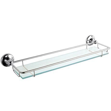Traditional Chrome Glass Shelf - LH305