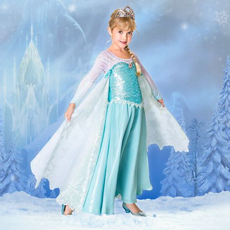 Elsa Limited Edition Costume for Girls - sewing experiment