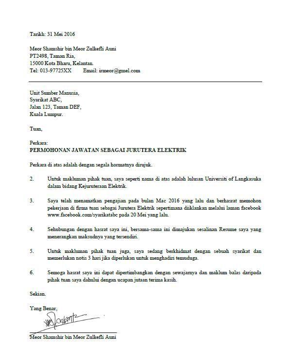3 Contoh Surat Rasmi Permohonan Kerja Yang Nampak Profesional Beradab This Or That Questions Surat Answers