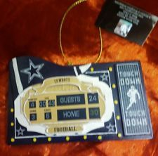 NFL Dallas Cowboys Scoreboard Ornament Football Touch Down Home 30 Guests 24 4TH