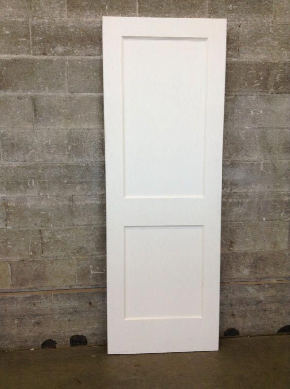 Two Panel Interior Door From Second Use Primed Masonite