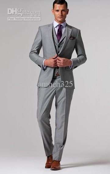 Gray And Brown Suit Dress Yy