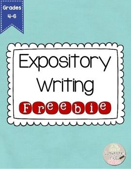 This expository FREEBIE includes: -directions for immediate implementation -Teacher Lesson Planning -Notes on Expository Writing -Notes on Sequential Writing -Sample Essay Organizer -Sample Essay Labeled for student understanding -Brainstorm Organizer -Student Drafting Organizer