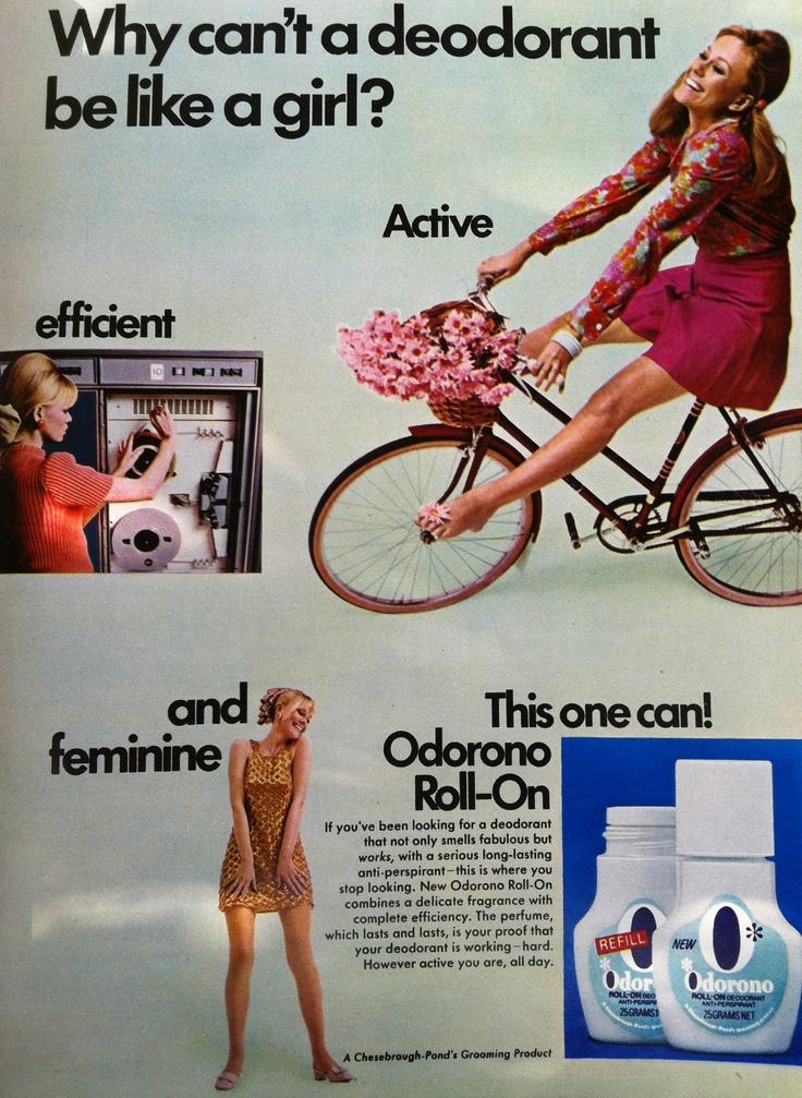 Deodorant ad 1964