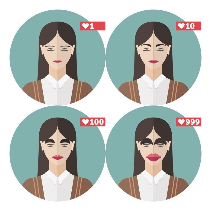 Девушка   Брови   Губы   Мода   Инфографика