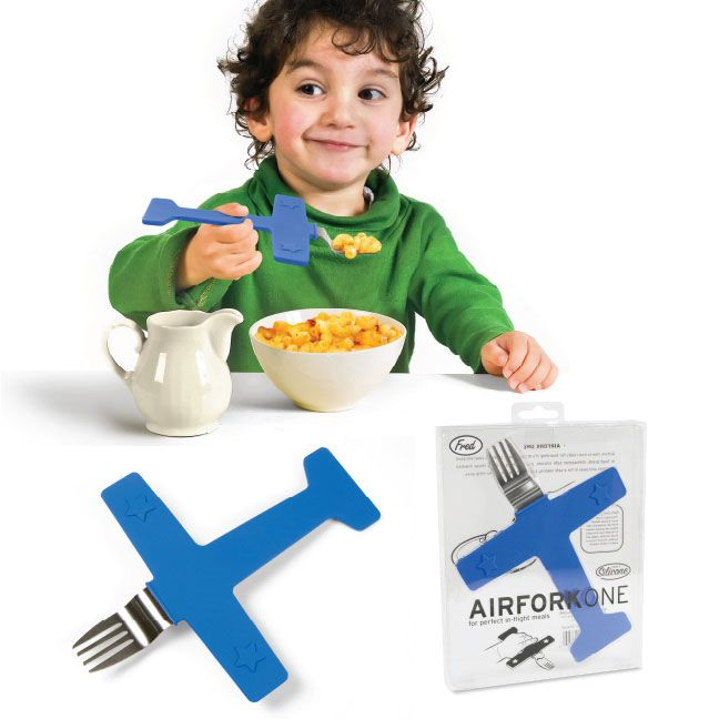 Best Funny Kitchen Gadgets LOL Fussy eater? Get him an airplane fork!