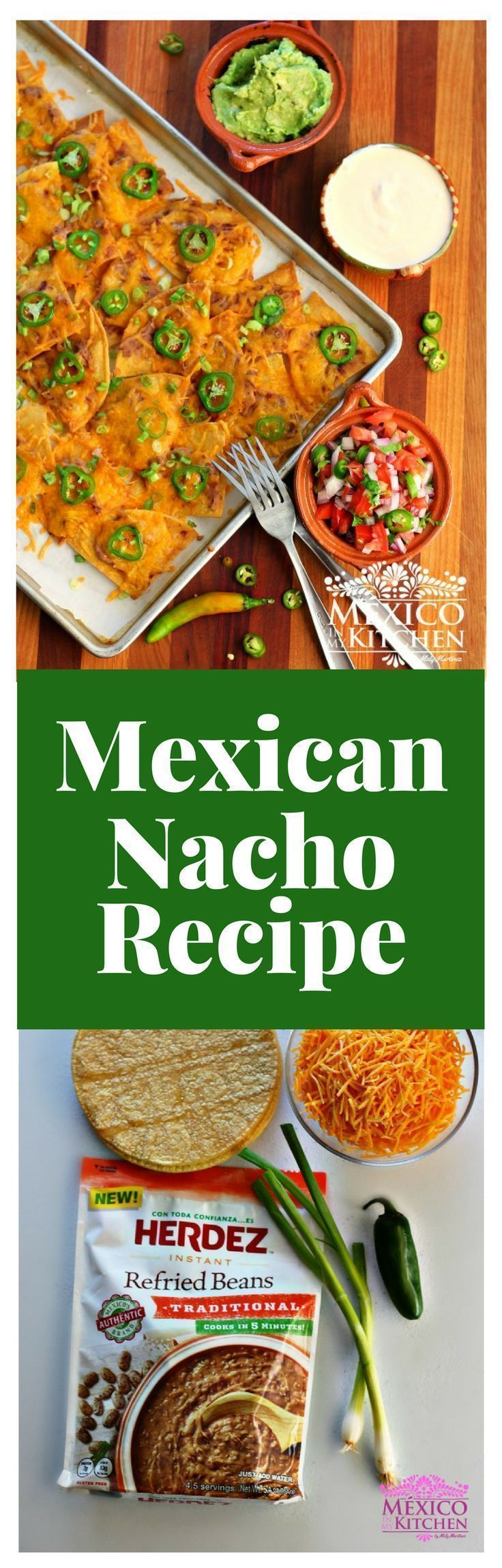 """Nachos"" Traditional recipe.  #recipe #mexican #food #homecook"