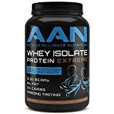 AANs Amazing Tasting Whey Protein Isolate EXTREME- 28 Grams of Premium Whey Isolate Protein Fat Free Low Carb Meal Replacement Pre Workout and Post Workout Shake (2lbs Chocolate Peanut Butter)