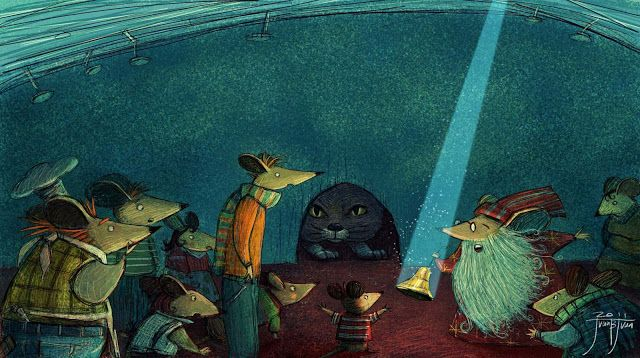 "juanbjuan children illustration: Final cover for "" Belling the cat"""