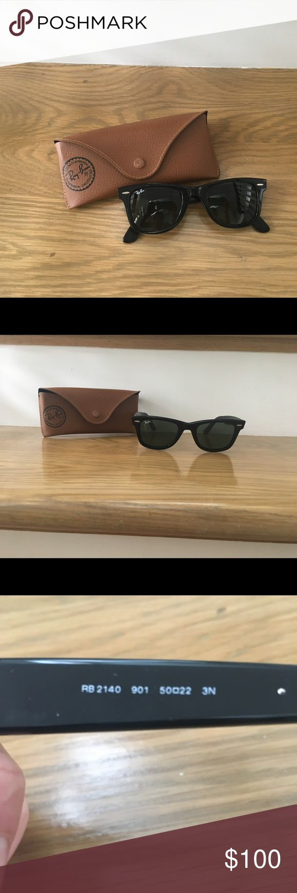 Mint condition Ray Ban Wayfarer Ray Ban Wayfarer sunglasses in black in perfect condition. Come in original case. Worn only a handful of times. Model RB2140 Ray-Ban Accessories Sunglasses