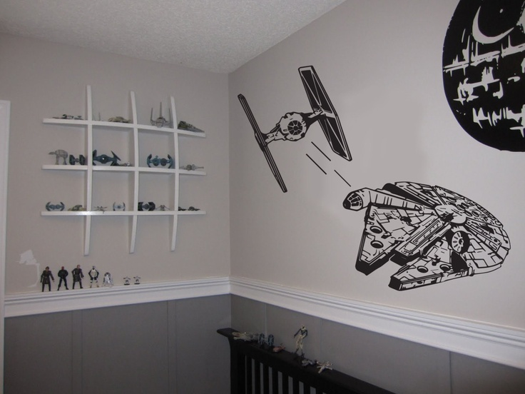 Star wars tie fighter, Star wars, Darth Vader, Use the force,  Wall sticker, Vinyl decal, Boys room decor, By Otrengraving on Etsy. $35.00, via Etsy.