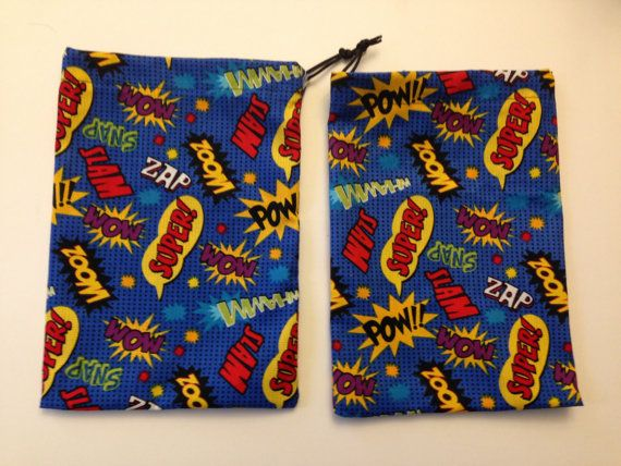 Two Custom Dice Bags for Marvel Dice Masters