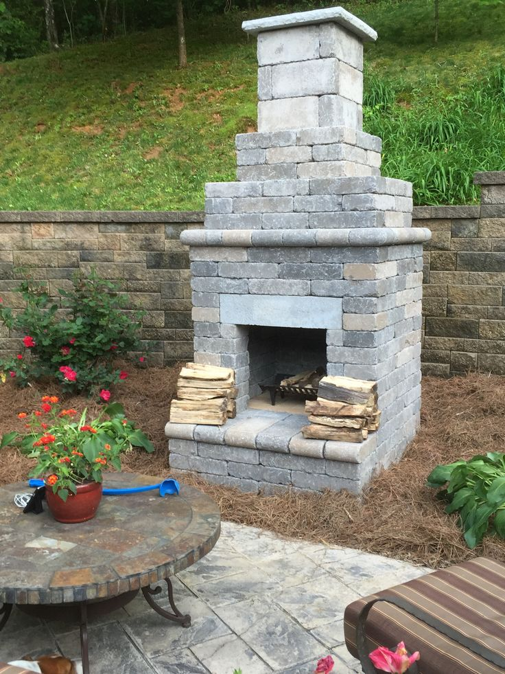 Outdoor Patio Fireplace From General, General Shale Fireplace Kit