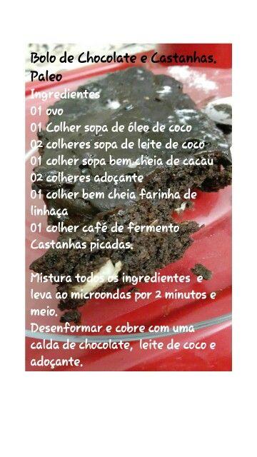 Bolo de Chocolate com Castanhas