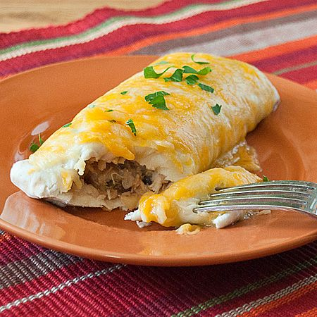pineapple burritos - These were fantastic.  Fast and easy.  I used home canned chicken and topped the burritos with one can of green chili enchilada sauce and one can of red enchilada sauce.  Yum, yum, yum.