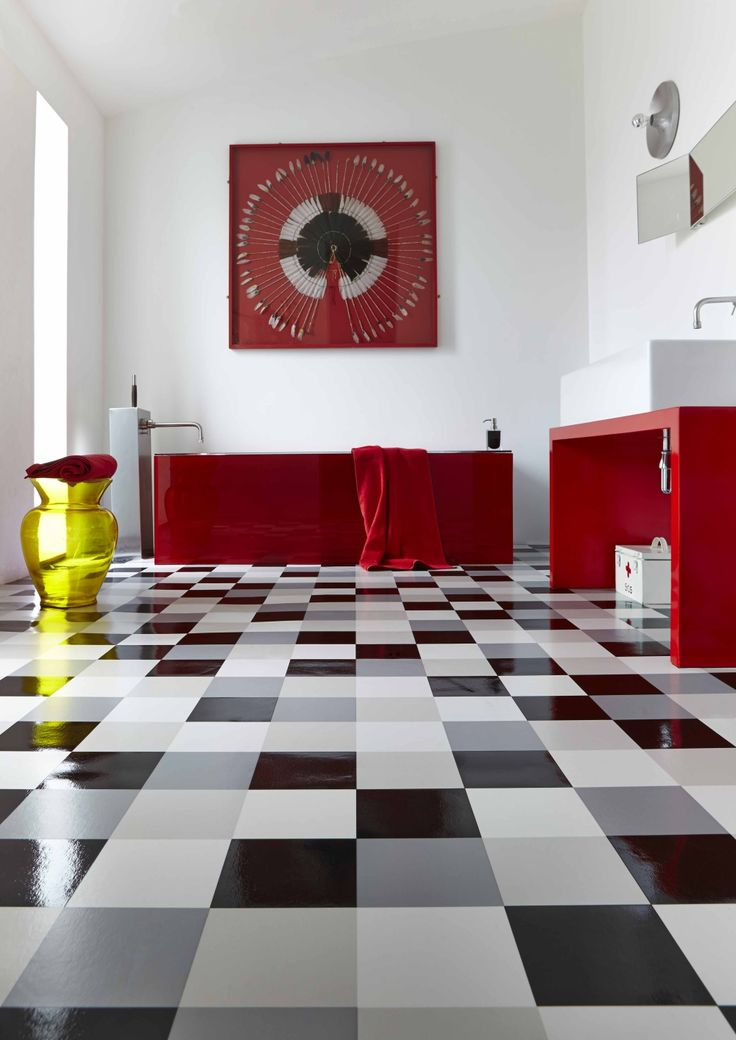 black and white interior with vibrant red features monochrome bathroom design vinyl