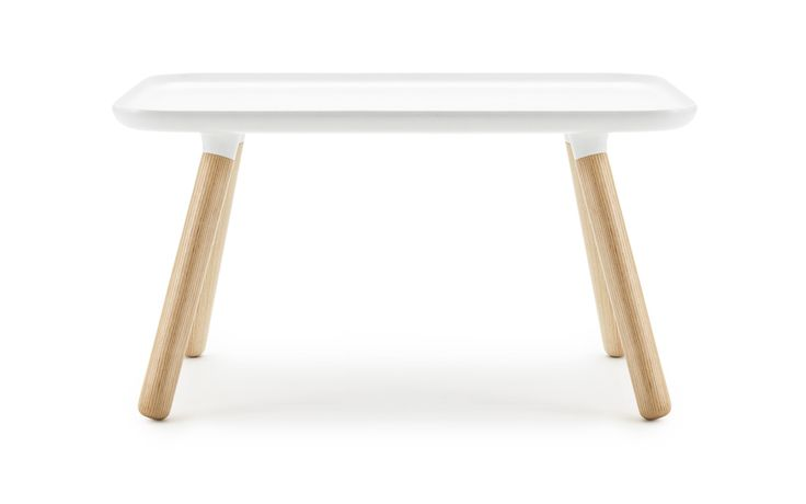 Tablo Table - A minimalistic coffee table in white with legs of ash