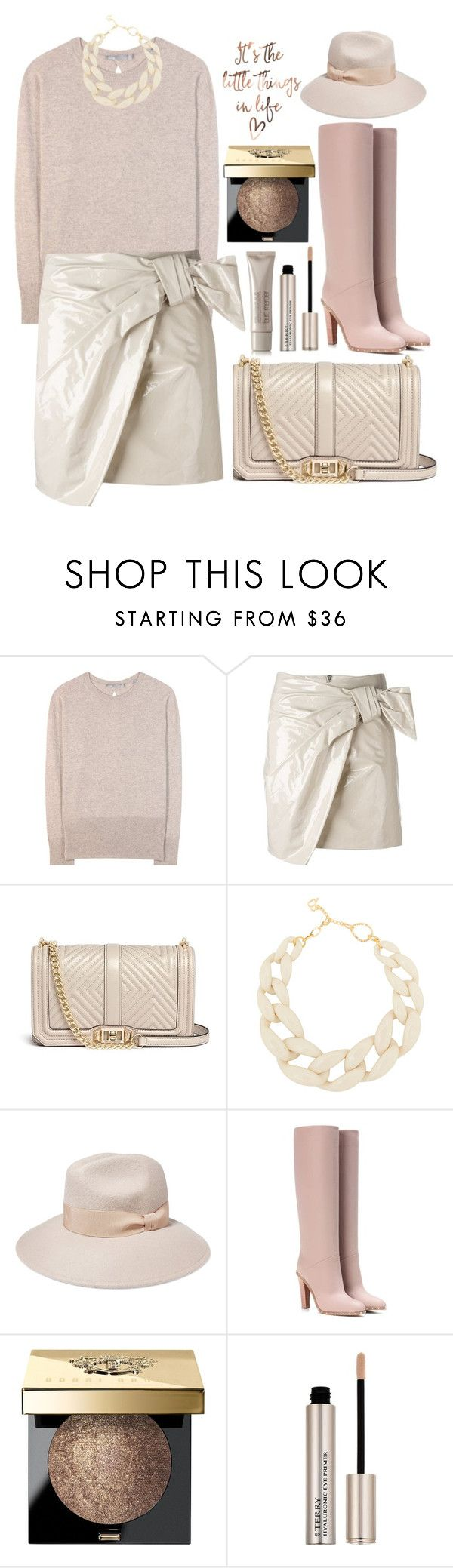 """""""It's the little things in life what matters"""" by alaria ❤ liked on Polyvore featuring Vince, Isabel Marant, Rebecca Minkoff, DIANA BROUSSARD, Iris & Ink, Valentino, Bobbi Brown Cosmetics, By Terry, Laura Mercier and neutrals"""