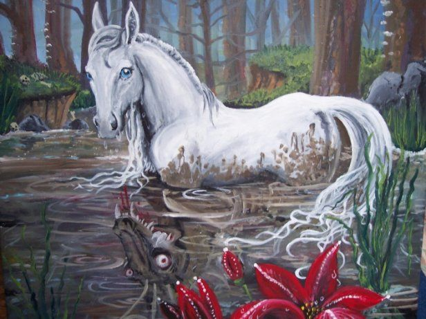 A kelpie - mythical horse in Irish folklore