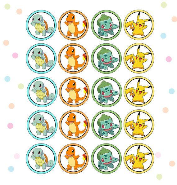 DIY imprimable Cupcake a Pokemon hauts de forme de par Pinkinks