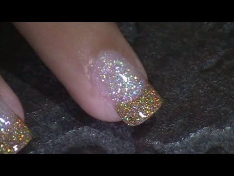 Gold Shimmer Nail Art :::... Jennifer Perez of Mystic Nails ☆ - YouTube