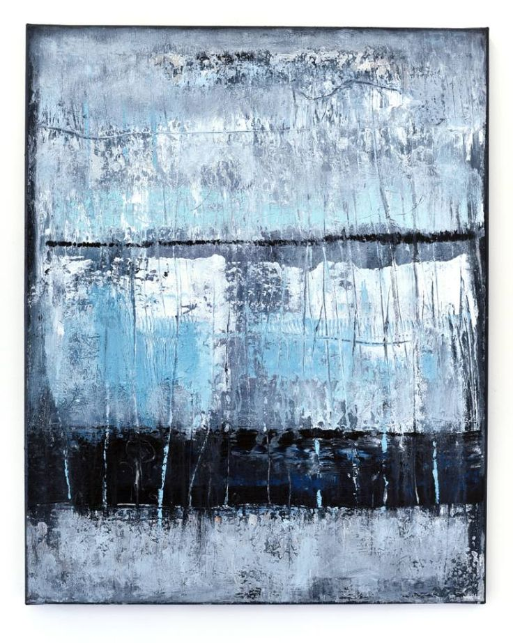 Buy RP955, a Acrylic on Canvas by Radek Smach from Czech Republic. It portrays: Abstract, relevant to: black, blue, turquoise, white, Srtucture, contemporary, design, abstract, grey, layered, minimalism, modern Original abstract painting on canvas. Mixed media.  Ready to hang. No framing required (it can be framed). The sides of the painting are painted. Signed on the back