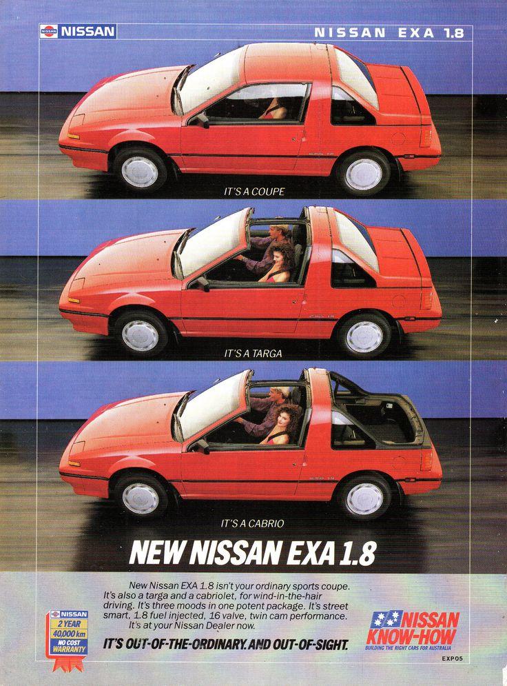 https://flic.kr/p/Z7gpGy   1989 Nissan EXA 1.8 Litre Coupe Targa Cabrio N13 Aussie Original Magazine Advertisement