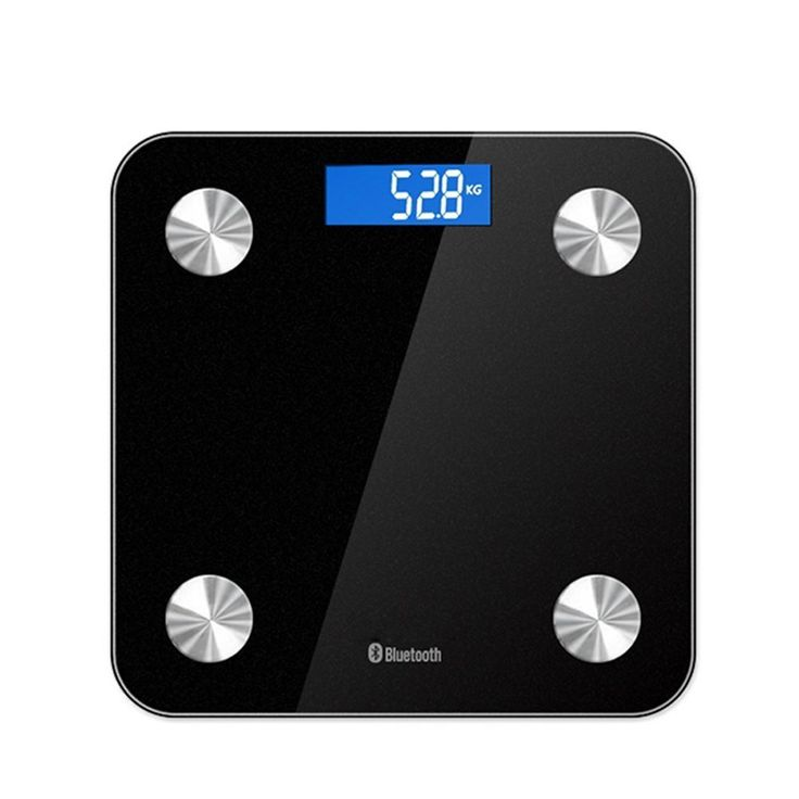 Glodeals Digital Body Weight Bluetooth Scale Bathroom Weight Smart Connected Body Fat Scale with Large Backlit LCD and Health Smart Scales App Weight Gurus,400lb/180kg (Black) ** Visit the image link more details.