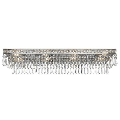 Crystorama 5267 Mercer 8 Light Hand Cut Crystal Bathroom Light