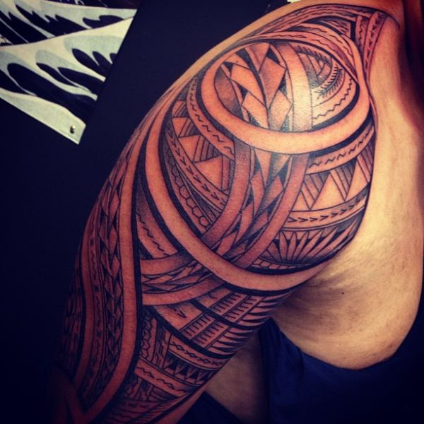 Polynesian Half Sleeve Tattoo, Polynesian Shoulder Tattoo