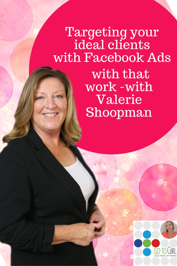 So many people say they've tried ads and they don't work.  Well settle in and get ready to listen to the gold that Facebook Ads expert Valerie Shoopman has to share.