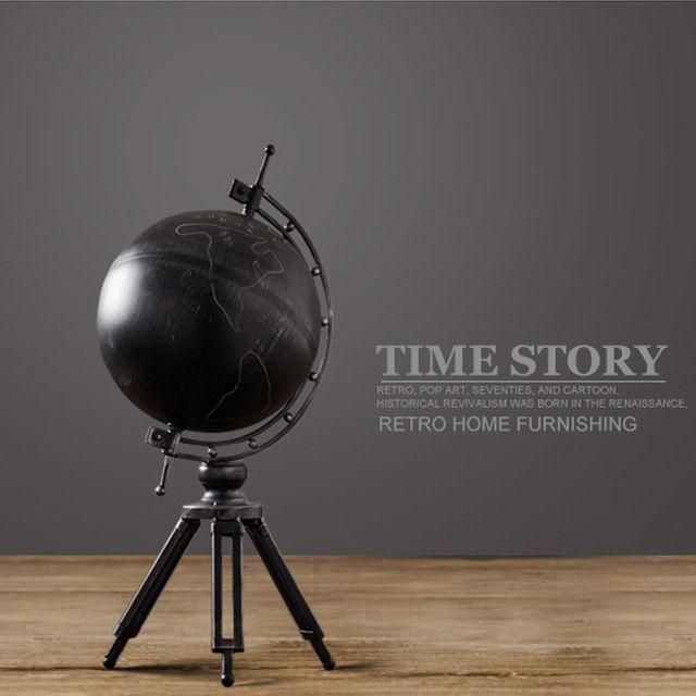 Американский деревенском стиле ретро глобус роскошь ручной железа искусства tellurian Nordic домашнего интерьера украшение творческого ремесла