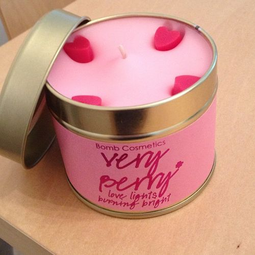 Very Berry Scented Candle tin by Bomb Cosmetics