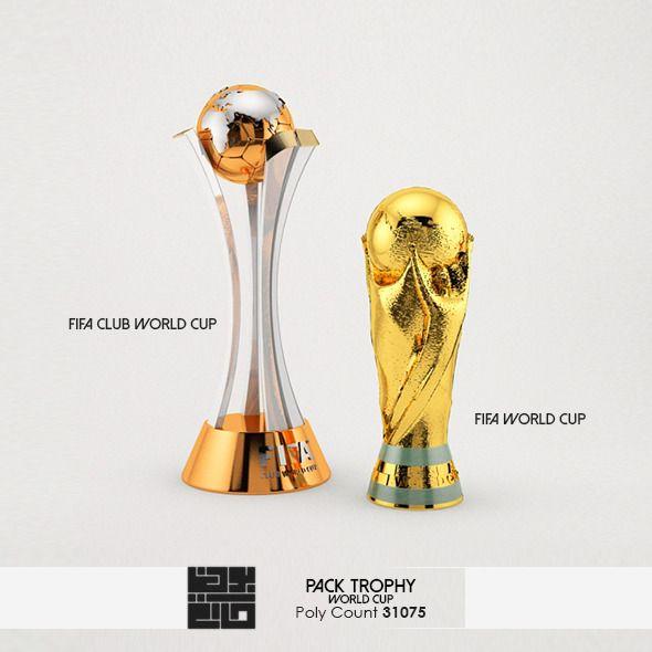 Pack Of World Cup Trophies 3d Model Trofeus E Medalhas Taca Do Mundial Futebol